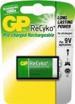 GP PROFI 9V Block Akku ReCyko 1000x wiederaufladbar 6LR61 6F22 Batterie 9V-Block