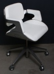 Interstuhl Silver-Chair 162S Design by Hadi Teherani Bürodrehstuhl Leder weiß