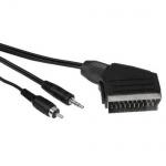 Hama 10m Cinch/Klinke - Scart-Kabel für PC Notebook an TV Chinch-Kabel Composite