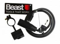 Beast Fahrrad-schloss Sicherheits-schloss Moped 6x800mm 2 Schlüssel Schwarz