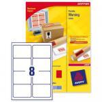 Avery Zweckform 200x Etiketten 67, 7x99, 1mm weiß Aufkleber Versand-Hinweis Warn-