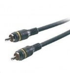 Vivanco HQ 1-1 Cinch-Kabel 2m Subwoofer Kabel Subwooferkabel Sub Audio