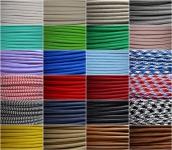Textil Stromkabel Lampen-Kabel Stoff Verlängerungs-Kabel Elektro Stromleitung