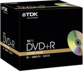 TDK PACK 5x DVD-Rohlinge 8.5 GB Double Layer 240 Min. 8x DVD+R DL Leer-DVD Case