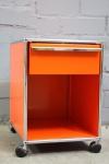 USM Haller 1 Schublade orange Rollcontainer Beistelltisch Container Ablage Tisch