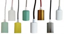 Vintage Lampen-Fassung Glühbirne E27 250V4A Leuchten-Pendel Halter Sockel Metall