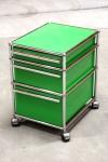 USM Haller Rollcontainer grün 3 Schubladen