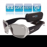 EX3D Damen 3D Brille passiv silber für LG Philips Sony Panasonic 3D-TV TV RealD