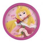 Hama Kinder Wanduhr Motiv Disney Princess pink Uhr Kinderzimmer Kinderuhr rosa