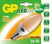 GP LED Kerze E14 3, 5W / 22W Extra Warmweiß 2200K Lampe Glüh-Birne Leuchtmittel