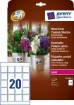 Avery Zweckform 160x Produkt-Etiketten wasserfest Produkt-Aufkleber Schilder