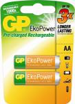 GP Batteries PROFI 2x AA-Akku EkoPower 1000x 1, 2V Mignon HR6 Batterie AA Akkus
