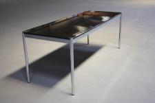 USM Haller Schreibtisch Granit-Tisch 150x75 Nero Assoluto Stein Konferenz Marmor