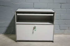 USM Haller Sideboard Druckerport Ablage mit Klappe und Tablar-Auszug Regal