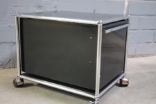 USM Haller 1 Fach Container Ablage Rollcontainer Würfel Schublade Auszug schwarz