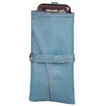Hama Handytasche Köchertasche Handyhülle Tasche Kimono Blau Kunstleder