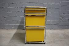 USM Haller Stand-Container Rollcontainer Regal Sideboard 3 Schubladen gelb