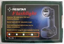 Regitar Taschenlampe Flashlight RL-05 100m 220 LUX 90° Schwenkkopf Lampe hell