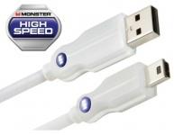 Monster HQ 0, 15m USB-Kabel 800 Mbps High-Speed Mini-B-Stecker Mini-USB 2.0 PC