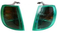 Hella Blinker Set grüne Frontblinker L+R für VW Polo III 3 6N 6N1 1994 bis 1999