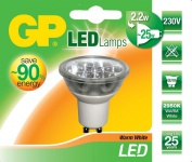 GP LED Strahler GU10 2, 2W/25W Reflektor Warmweiß 2950K Lampe Birne Leuchtmittel