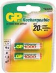 GP Batteries PROFI 2x AAA-Akku 1000 mAh Series 1, 2V Micro HR03 Batterie AAA Akku