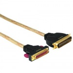 Hama Gold-Line Drucker-Kabel 3m IEEE1284 Parallel Centronics-Kabel 24k vergoldet