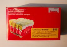 Hama Druckerpatrone für Brother B10 DCP-130 Schwarz 25ml & Rot Gelb Blau je 14ml