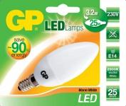 GP LED Kerze E14 3, 2W / 25W Warmweiß Kerzen-Lampe Glühbirne Birne Leuchtmittel