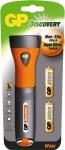 GP L073 Work Profi Taschenlampe HELL Krypton Lampe FlashLigth + 2x AA-Batterie