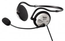 Hama PC Neckband Stero Kopfhörer Headset HS-55 3, 5mm Klinke Mikrofonarm Weiß