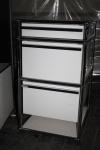 USM Haller Roll-Container reinweiß 3 Schubladen Auszüge Ablage Regal Container