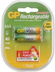 GP Batteries PROFI 2x AAA-Akku 950 mAh Series 1, 2V Micro HR03 Batterie AAA Akku