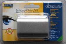 Vivanco Li-Ion Akku für JVC Camcorder BN-V514 BN-V507