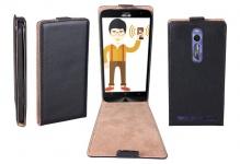 Patona Slim Flip Cover Tasche Schutz-Hülle Case für Asus Zenfone 2 (4G / Deluxe)