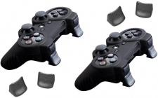 Brooklyn Pack 2x Silikon-Hülle Tasche Skin + 2x Triggers für Sony PS3 Controller