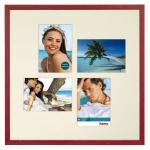 Hama Holz-Rahmen Galerie-Rahmen Giulia Burgund 50x50 Foto-Collage Bilder 13x18cm