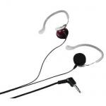 Koss Stereo Kopfhörer KSC 22 Ohrhörer Ohrclip 3, 5mm Klinke Schwarz Rot
