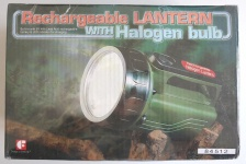 Design to perform Taschenlampe Rechargeable lantern with halogen bulb Ladegerät