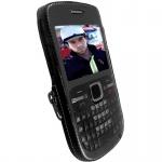 Krusell Classic Case Multiadapt Clip Leder-Tasche Cover für Nokia C3 C3-00 Etui