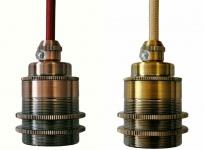 Lampen Fassung E27 vintage 250V 4A Sockel Halter Messing Gold Bronze Schraubring