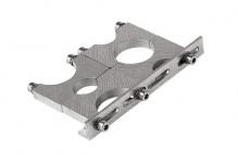 Hama Universal 2 LNB-Multifeedfhalter für 24- und 40-mm-Aufnahme Silber