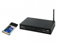 Hama WLAN Set Router + Cardbus PC-Card 108Mbps Notebook PCMCIA WiFi Switch DSL