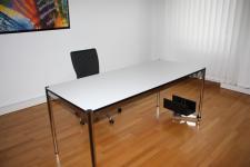 USM Haller Tisch 100x100 cm Besprechungs-tisch Schreibtisch Perlgrau