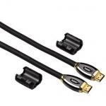 Hama ProClass HQ HDMI-Kabel 3m Gold Ferrit HDMI-Stecker für TV LED LCD HD 3D