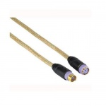 Hama GoldLine PS/2 Tastaturverlängerung 1, 8m 24k hart vergoldet Kabel Mini-Din