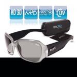 EX3D Damen 3D Brille Passiv Polfilterbrille Silber für 3D-TV Beamer Kino RealD
