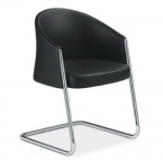 *Aussteller* Sedus Besucherstuhl Konferenz-Stuhl Silent Rush schwarz Aluminium