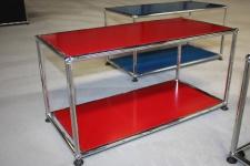 USM Haller Regal Sideboard Tisch-Ablage 1 Fach offen rot Beistelltisch Medien