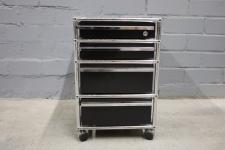 USM Haller Roll-Container 4 Schubladen Auszüge A7 A6 schwarz Regal Sideboard